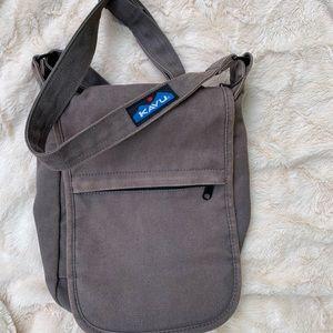 Kavu canvas cross body bag, gray
